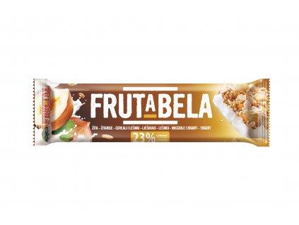 FRUCTAL Frutabela cereální tyčinka s lískovými ořechy a jogurtovou polevou 30 g