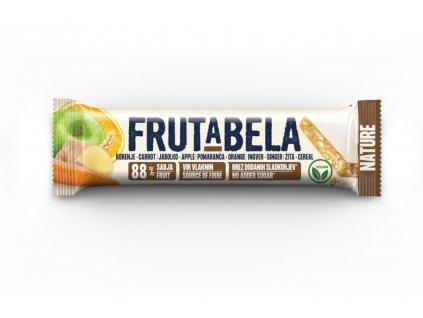 FRUCTAL Frutabela cereální tyčinka s mrkví, jablkem, pomerančem a zázvorem bez cukru 35 g