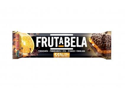 FRUCTAL Frutabela cereální tyčinka s pomerančem a čokoládovou polevou bez cukru 25 g