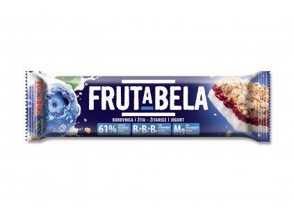 FRUCTAL Frutabela cereální tyčinka s příchutí borůvky s jogurtovou polevou 44 g