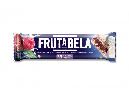 FRUCTAL Frutabela cereální tyčinka s příchutí lesních plodů v jogurtové polevě 30 g