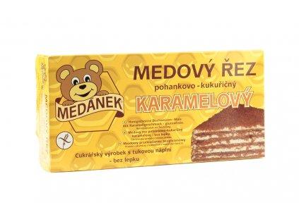 MEDÁNEK Medový řez pohankovo kukuřičný karamelový bez lepku 370 g