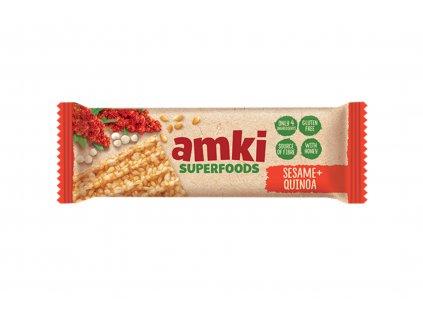 UNITOP Sezamová tyčinka AMKI s pufovanou quinoou a medem 33 g