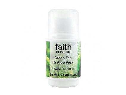 FAITH IN NATURE přírodní kuličkový deodorant pro ženy Green Tea 50 ml