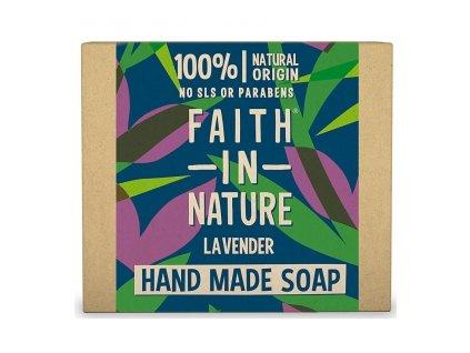 FAITH IN NATURE rostlinné tuhé mýdlo s levandulí 100 g