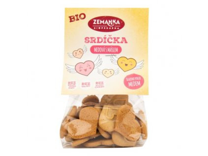 ZEMANKA Srdíčka medová s máslem BIO 100 g
