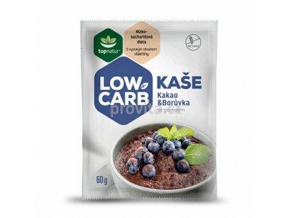 Topnatur Kaše Low Carb kakao & borůvka se sladid. bezl. 60g