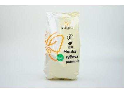 Mouka rýžová polohrubá BIO Natural 500g