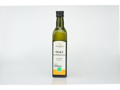 Olej slunečnicový za studena lisovaný Natural 500ml