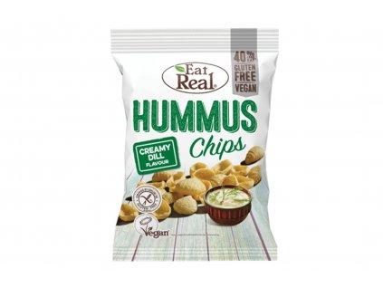 Hummus chips s krémovým koprem Eat Real 45g