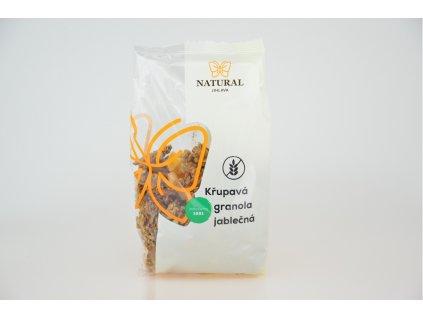 Křupavá granola jablečná bez lepku Natural 300g