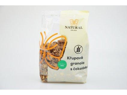 Křupavá granola s čokoládou bez lepku Natural 300g