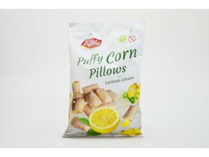 Kukuřičné polštářky plněné krémem s citronovou příchutí bez lepku Balila 70g