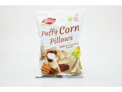 Kukuřičné polštářky plněné krémem s mléčně skořicovou příchutí bez lepku Balila 70g