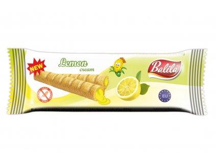 Kukuřičné trubičky plněné krémem s citronovou příchutí bez lepku Balila 18g