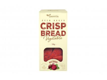 Křehké pšeničné řezané plátky s červenou řepou Danvita 110g