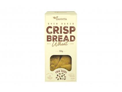 Křehké pšeničné řezané plátky s chia semínky Danvita 110g