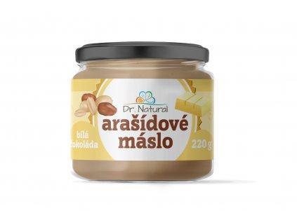 Arašídové máslo s bílou čokoládou Dr. Natural 220g
