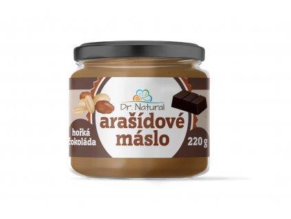 Arašídové máslo s hořkou čokoládou Dr. Natural 220g