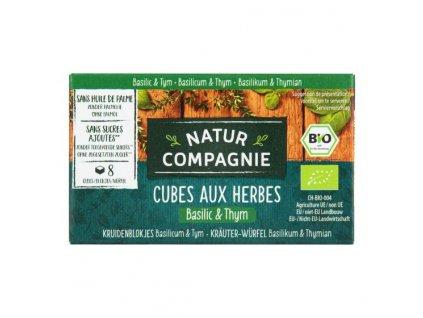 Bujon bylinkový kostky bazalka tymián 80 g BIO NATUR COMPAGNIE