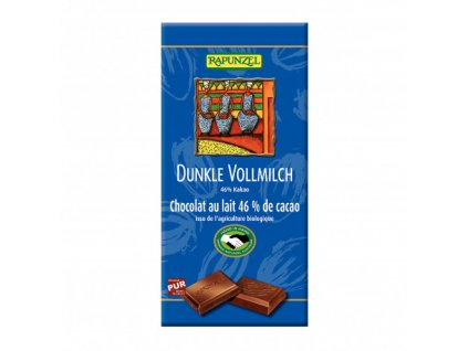 cokolada horko mlecna rapunzel bio 100 g