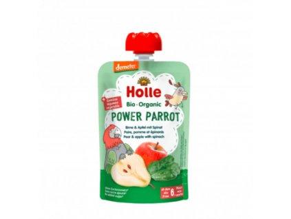 Ovocné pyré hruška, jablko, špenát BIO pro děti 100 g Holle