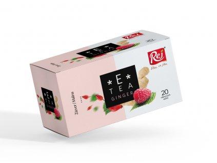 Rej Čaj E tea Ginger zázvor malina 20 x 2.2 g