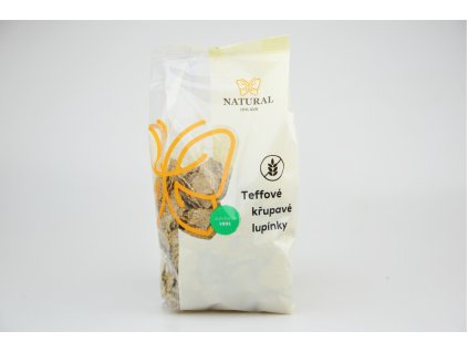 Teffové křupavé lupínky bez lepku Natural 200g