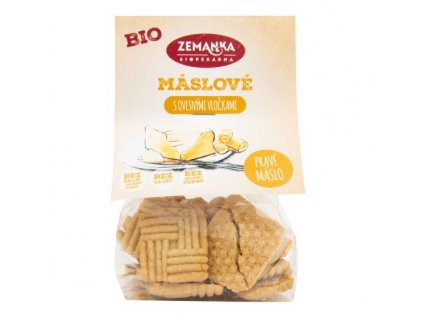 ZEMANKA Sušenky máslové s ovesnými vločkami BIO 100 g