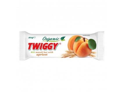 EKOFRUKT Tyčinka Twiggy müsli s meruňkami BIO 20 g
