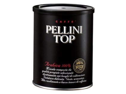 Pellini TOP 100% Arabica v plechové dóze mletá káva 250 g