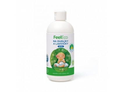 prostredek na myti dudliku a lahvicek baby 500 ml feel eco