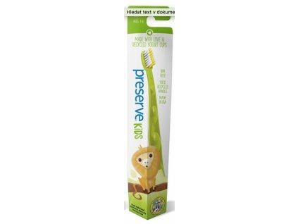 Preserve Dětský zubní kartáček soft zelený a