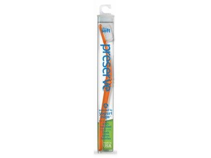 Preserve Zubní kartáček medium - oranžový