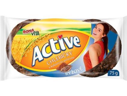 Bonavita Chlebíčky rýžové polomáčené s kakaovou polevou 75g