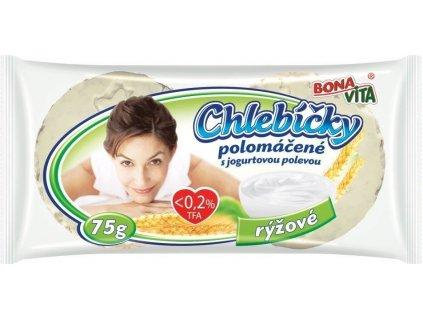 Bonavita Chlebíčky rýžové polomáčené s jogurtovou polevou 75g