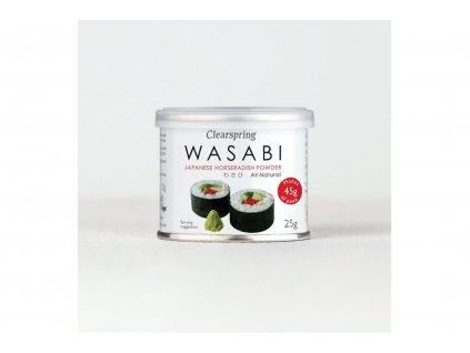 Clearspring wasabi japonský křenový prášek 25 g