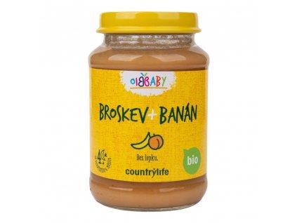 COUNTRY LIFE Příkrm broskev, banán BIO 190 g