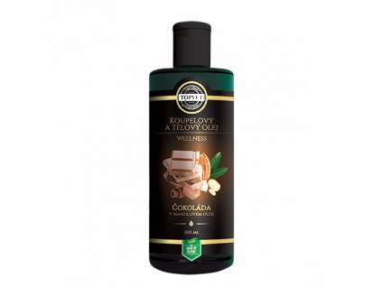 Topvet Wellness čokoláda v mandlovém oleji koupelový a tělový olej 200 ml