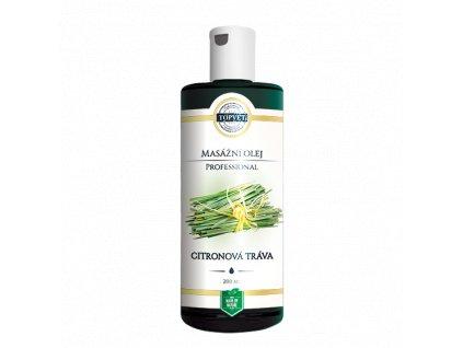 TOPVET Citronová tráva masážní olej 200ml