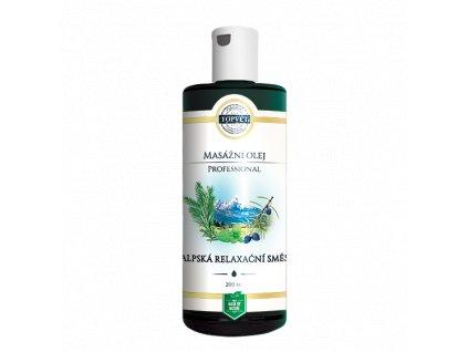 TOPVET Alpská relax. směs masážní olej 200ml