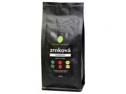 4100 fair trade zrnkova kava kamerun 250 g