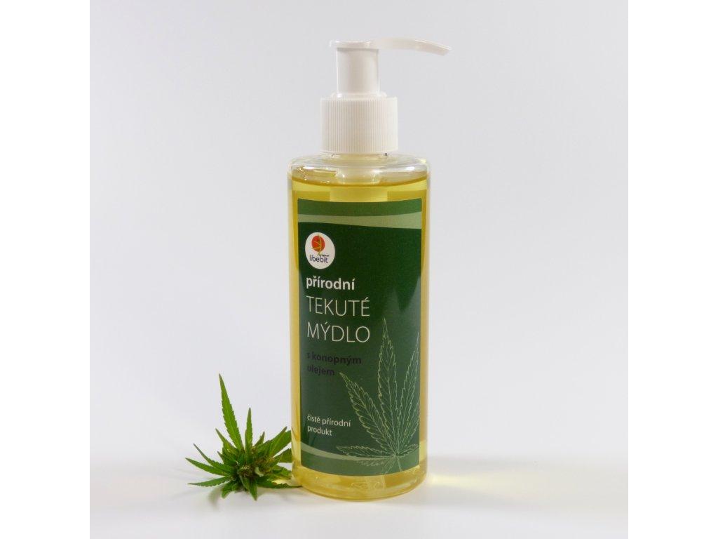 Tekute mydlo s konopnym olejem