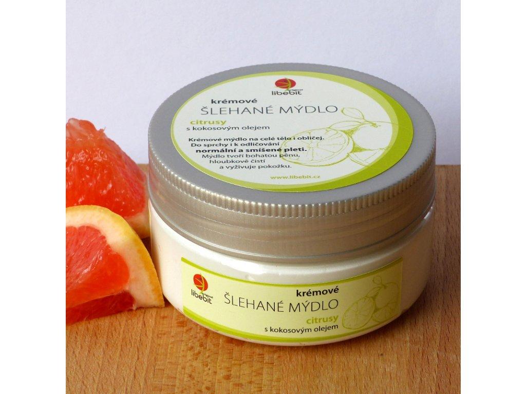 Slehane mydlo s kokosovym olejem citrusy