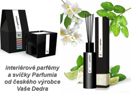 Interiérové parfémy a svíčka Parfumia, Vaše DEDRA