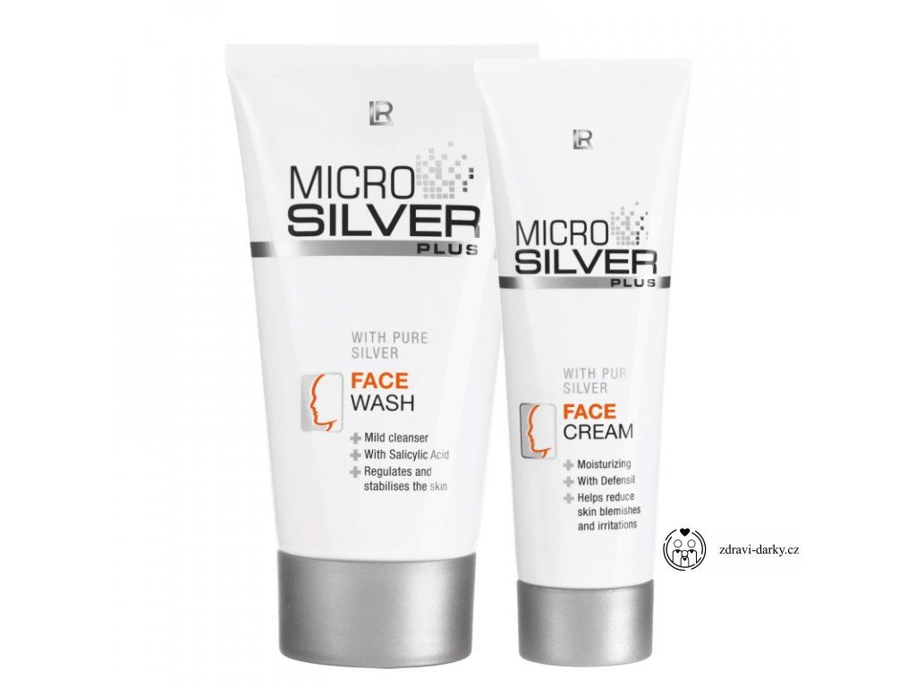 Microsilver Pleťová série: Mycí krém 150ml, Pleťový krém 50ml