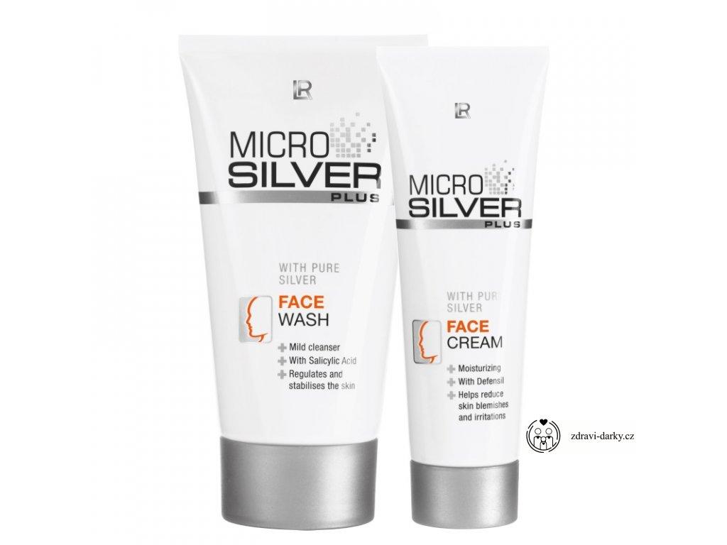 Microsilver Plus Pleťová série: Mycí krém 150ml, Pleťový krém 50ml