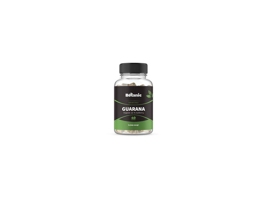 Botanic Guarana - Extrakt ze semínek s 22% kofeinu v kapslích 40kap.