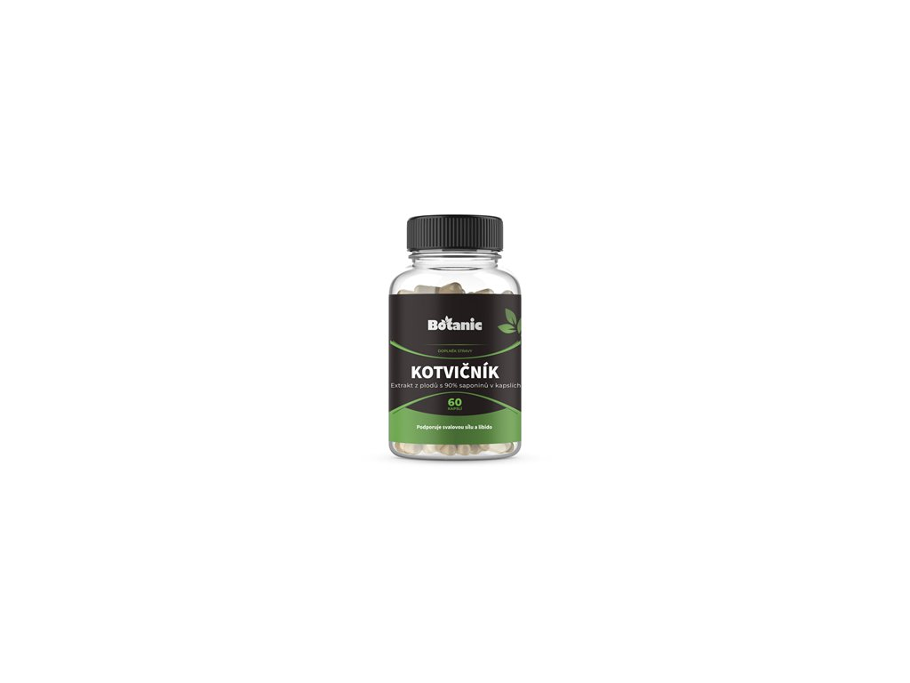Botanic Kotvičník (Tribulus) - Extrakt z plodů s 90% saponinů v kapslích 60kap.