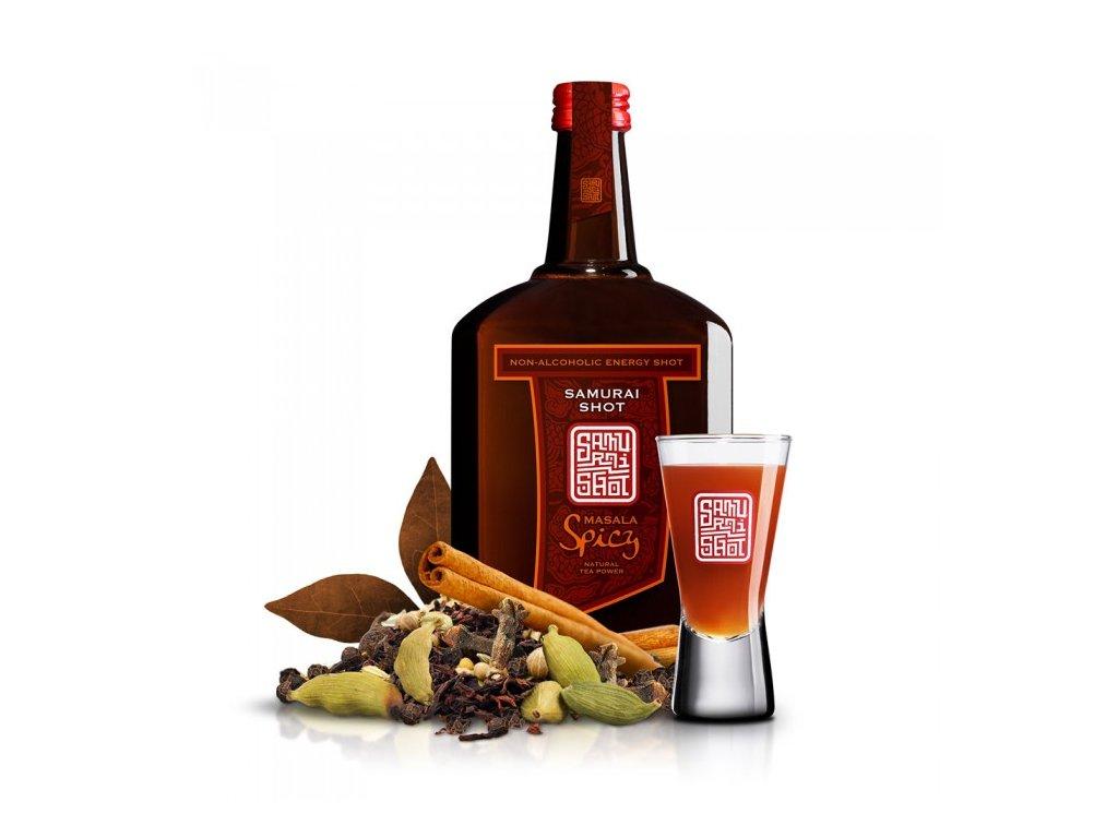 Povzbuzující nealkoholický nápoj MASALA SPICY - černý čaj s kořením